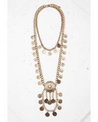 Forever 21 | Metallic Sunburst Pendant Necklace Set | Lyst