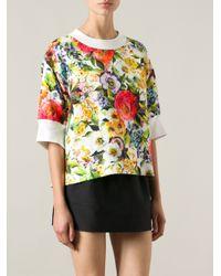 Dolce & Gabbana Multicolor Floral Print Top