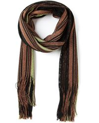 Gucci | Brown Striped Scarf | Lyst
