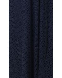 Tibi | Blue Diffusion Eyelet Off-the-shoulder Top | Lyst