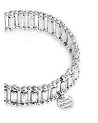 Philippe Audibert - Metallic 'Titia' Baguette Cut Crystal Elastic Bracelet - Lyst