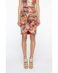 Nicole Miller Multicolor Sequin Twist Skirt