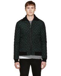 Dolce & Gabbana Green And Black Reversible Leopard Print Bomber for men