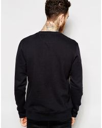 Penfield - Black Sweatshirt With Collegiate Logo for Men - Lyst