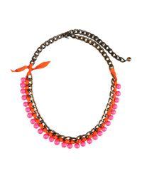 Lanvin - Purple Necklace - Lyst