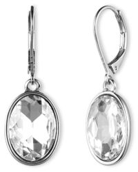 Nine West | Metallic Crystal Drop Earrings | Lyst