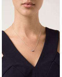 Ileana Makri - Metallic Diamond Iris Pendant Necklace - Lyst