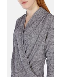 Karen Millen Gray Draped Jersey Top