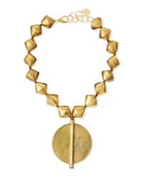 Nest | Metallic Brass Beaded Pendant Necklace | Lyst