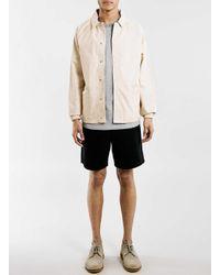 TOPMAN - Gray Ltd Montauk Surf Grey Ribbed T-shirt for Men - Lyst