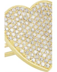 Jennifer Meyer - Metallic 18-Karat Gold Diamond Heart Ring - Lyst