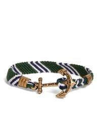 Brooks Brothers - Kiel James Patrick Green Hitch Knot Braided Bracelet for Men - Lyst