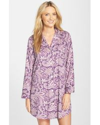 Lauren by Ralph Lauren | Purple Sateen Nightshirt | Lyst