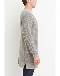 Forever 21 | Gray Waffle Knit Cardigan You've Been Added To The Waitlist for Men | Lyst