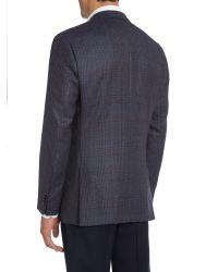 Tommy Hilfiger Blue Jeremy Slim Fit Over Check Blazer for men