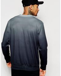 Jaded London | Blue Sweatshirt With Ombre Print for Men | Lyst