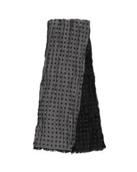 Paul Smith - Gray Polka Dot Silk-cotton Scarf for Men - Lyst