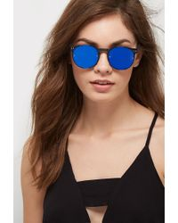 Forever 21 Blue Spitfire Post Punk Sunglasses