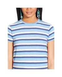 Polo Ralph Lauren - Blue Striped Crewneck Tee - Lyst