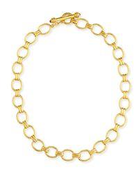 Elizabeth Locke | Metallic Rimini Gold 19k Link Necklace With Ruby | Lyst