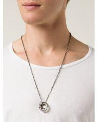 Werkstatt:münchen Metallic Four Ring Necklace for men