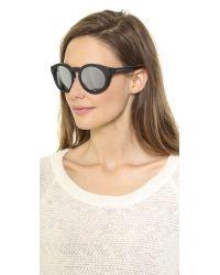 Marc Jacobs Bold Mirrored Sunglasses Shiny Blackblack Mirror