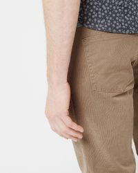 Ted Baker - Natural Five Pocket Cotton Trousers for Men - Lyst