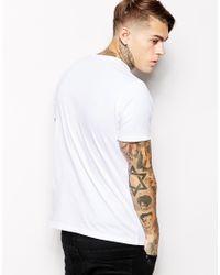 DIESEL White T-Shirt T-Nitare Winged Logo Print for men