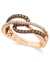 Le Vian | Brown Chocolate By Petite Chocolate And White Diamond (3/8 Ct. T.w.) Ring In 14k Rose Gold | Lyst