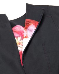 Ted Baker Black Tailored Mohair Suit Dress