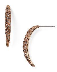 Alexis Bittar - Pink Miss Havisham Encrusted Arc Spear Drop Earring - Lyst