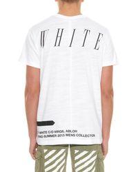 Off-White c/o Virgil Abloh White Moving Still Printed Jersey T-Shirt for men