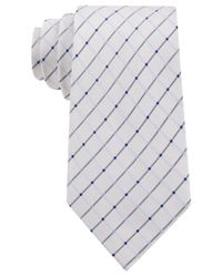 Geoffrey Beene | White City Grid Extra Long Tie for Men | Lyst