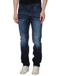 Originals By Jack & Jones - Blue Denim Trousers for Men - Lyst