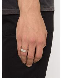 Hood By Air - Metallic Hexagon Logo Ring for Men - Lyst