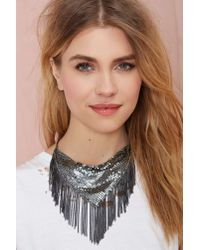 Nasty Gal - Metallic Handkerchief Chain Necklace - Lyst