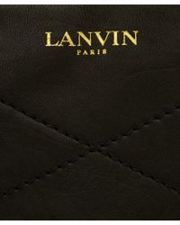 Lanvin - Black Blush Quilted Leather Bag - Lyst
