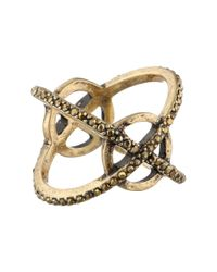 Lucky Brand | Metallic Xo Pave Ring | Lyst