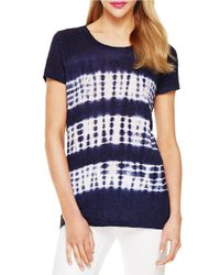 Two By Vince Camuto | Blue Linen Tee | Lyst