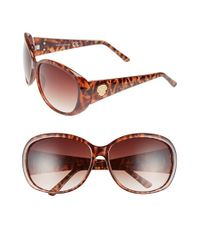 Vince Camuto Brown 64mm Oval Sunglasses