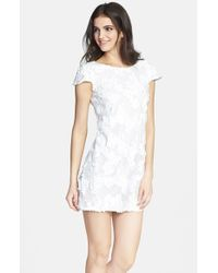 Dress the Population White 'brooke' Sequin Minidress