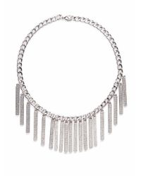 Rebecca Minkoff | Metallic Pavé Runway Id Necklace | Lyst