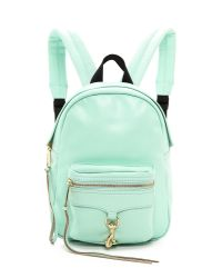 Rebecca Minkoff Green Mini Mab Backpack - Winter Mint