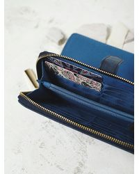 Free People | Blue Womens Annora Vegan Wallet | Lyst