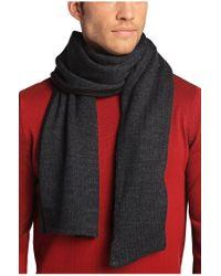BOSS Green   Black 'scarf_fleece'   Wool Blend Fleece Scarf for Men   Lyst