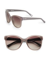 Fossil | Pink 54mm Bold Round Sunglasses | Lyst