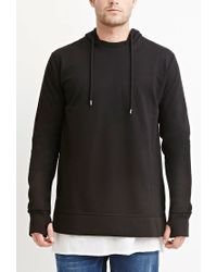 Forever 21 - Black Cotton-blend Vented Hoodie for Men - Lyst