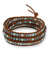 Chan Luu | Blue Mint Alabaster Mix Five Wrap Bracelet | Lyst
