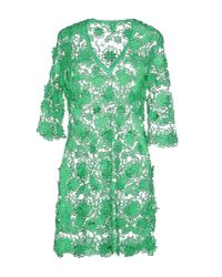 Agogoa | Green Short Dress | Lyst