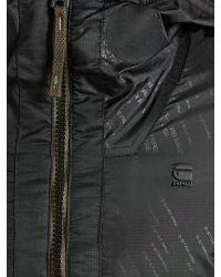 G-Star RAW Black Whistler Hooded Bomber Jacket for men